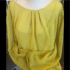 Banana Republic Yellow Blouse
